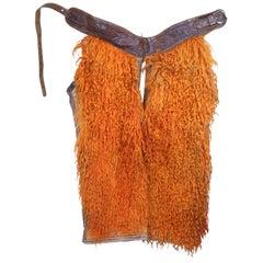 Orange Wooly Chaps