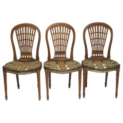 Set of Six Maison Jansen Balloon Back Dining Side Chairs, Early 20th Century