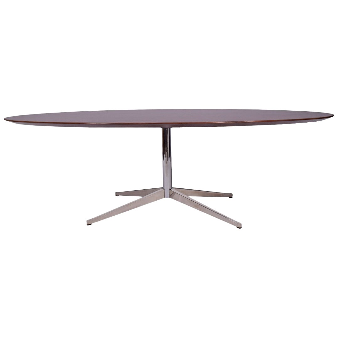 8' Oval Rosewood Table or Desk by Florence Knoll