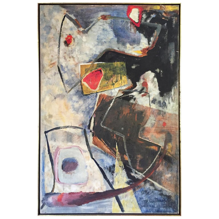 """Mary Gardner Signed Abstract Oil Painting, """"Taurus"""""""