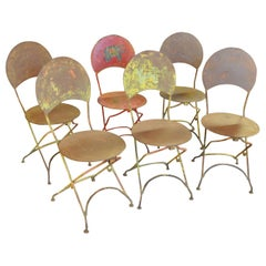 Set of Six French Circus Chairs