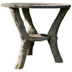 Faux Bois Garden Bistro Table