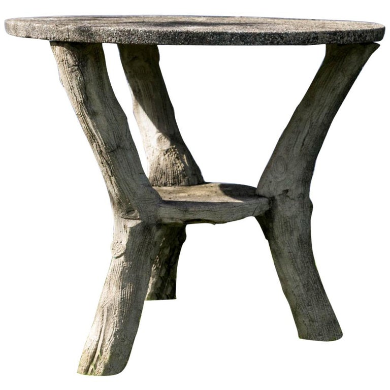 Faux Bois Garden Bistro Table For Sale