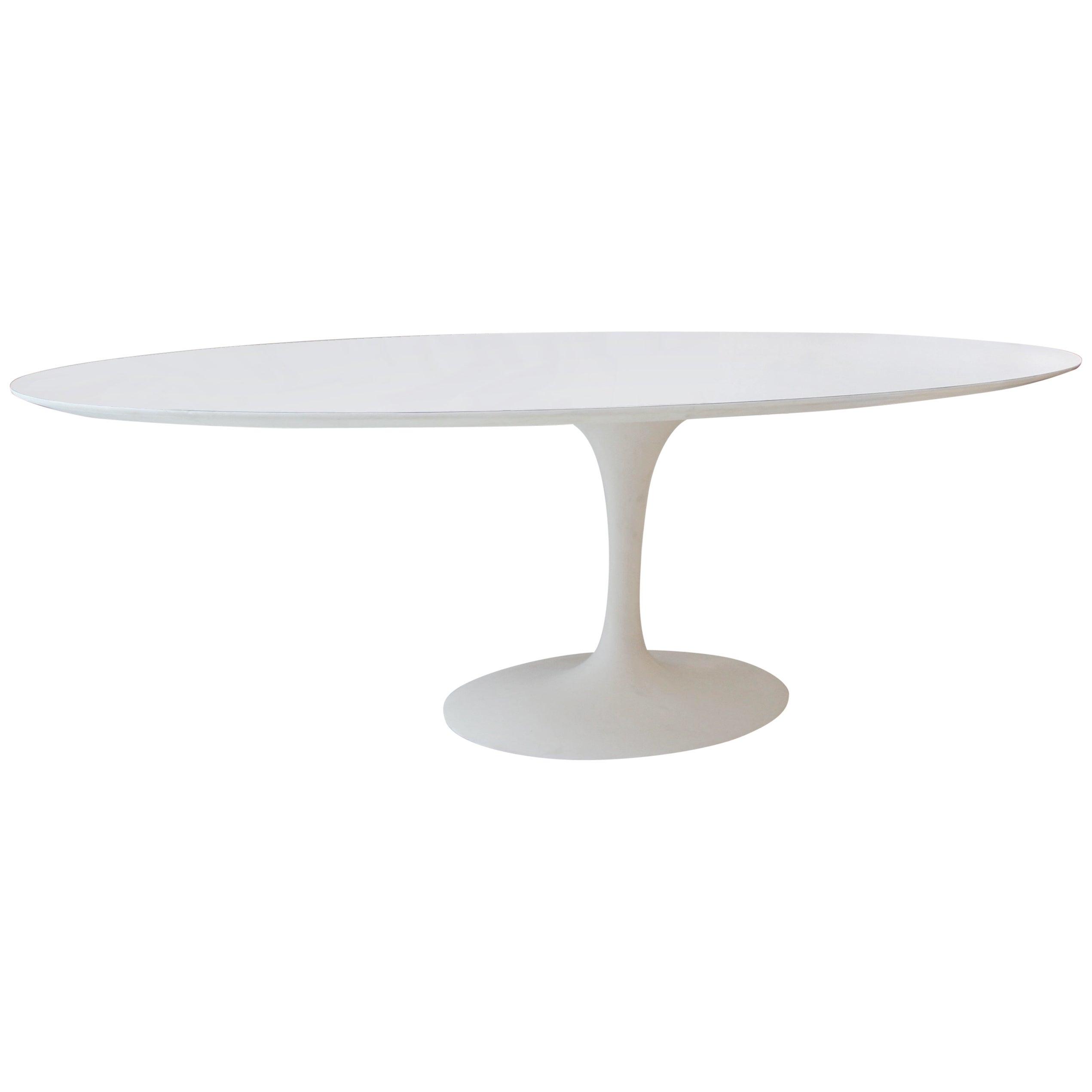 Vintage Elliptical Eero Saarinen Tulip Dining Table For Knoll At 1stdibs