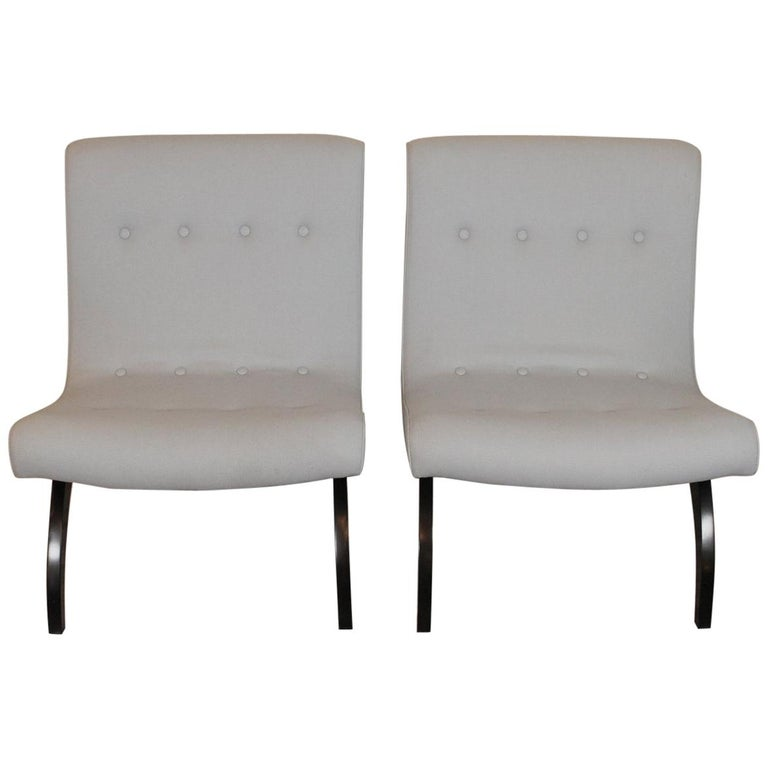 Pair of Scoop Chairs by Milo Baughman for Thayer Coggin