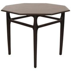 Midcentury Dark Walnut Side Table