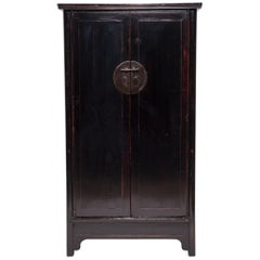 19th Century Chinese Black Lacquer Cabinet