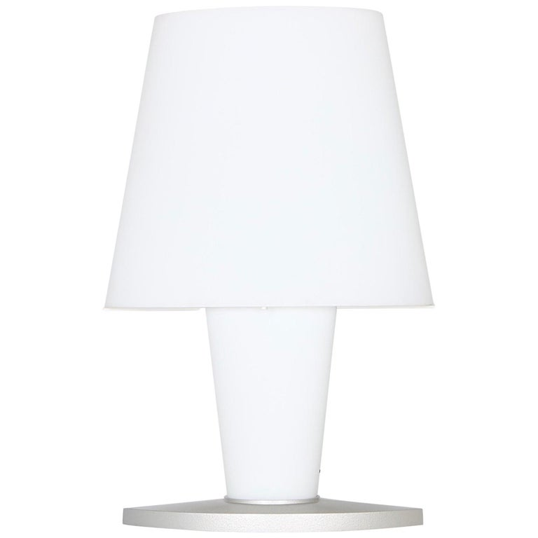 Monumental Fontana Arte by Daniela Puppa Frosted Glass Table Lamp in White