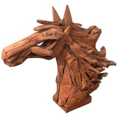 Driftwood Horse Head Sculpture
