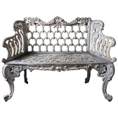 1890s Cast Iron White House American Garden Benches 'Pair'