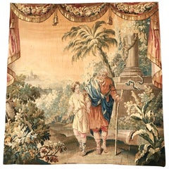 18th Century French Aubusson Mythological and Scenic Tapestry Composition