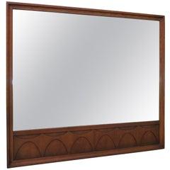 Handsome Broyhill Brasilia Walnut Mirror Mid-Century Modern