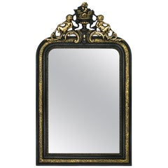French Antique Napoleon III Style Mirror, 19th Century