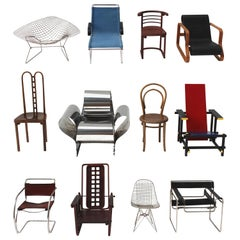 Collection of 12 Vitra Miniature Chairs