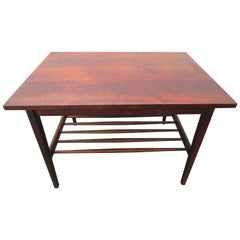 Stylish Mid-Century Modern Walnut End Table by Jens Risom