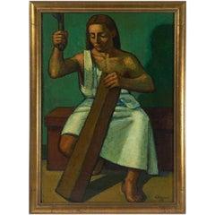 """Gesu Lavoratore"" by Giuseppe Pranovi, 1958"