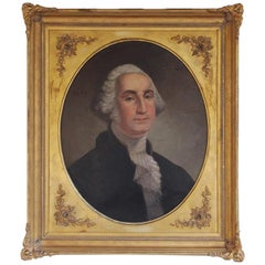 American Portrait of George Washington Oil on Canvas in Gilt Frame, circa 1830
