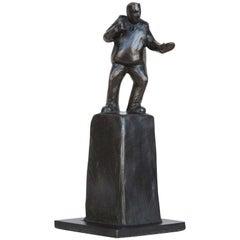 """""""Battle Stance"""" Bronze Sculpture by Jim Rennert"""