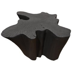 Andrianna Shamaris Charred Teak Wood Coffee Table or Side Table