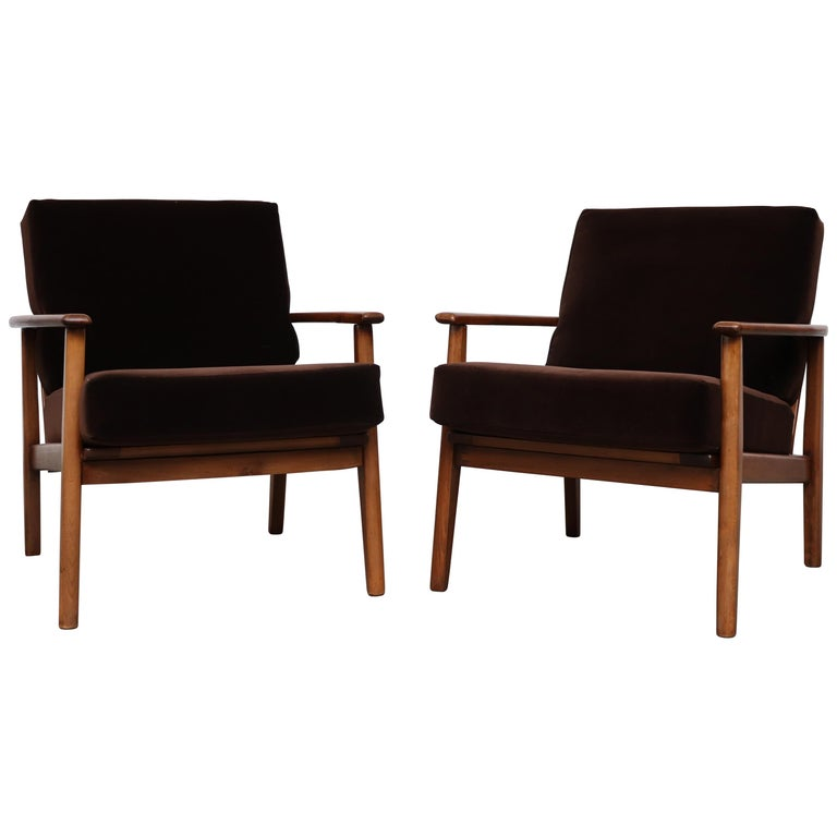 Pair of Midcentury Danish Lounge Chairs