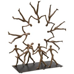 """""""Circle of Life"""" Bronze by Tolla Inbar with Custom Base"""