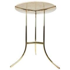 Cedric Hartman Design Bronze and Marble Guéridon Table