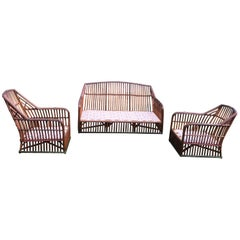 Antique Stick Wicker Set