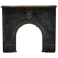 19th Century Cast Iron Schoolhouse Fireplace Surround, circa 1800s