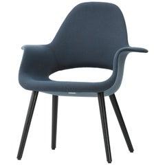 Vitra Organic Chair in Ice Blue & Brown by Charles Eames & Eero Saarinen