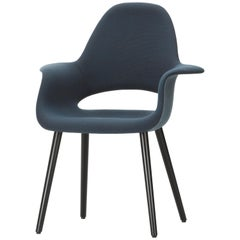 Vitra Organic Conference Chair in Blue & Brown by Charles Eames & Eero Saarinen