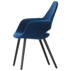 Vitra Organic Conference Chair in Blue by Charles Eames & Eero Saarinen