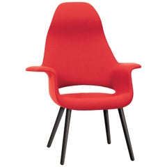 Vitra Organic Highback Chair in Red by Charles Eames & Eero Saarinen