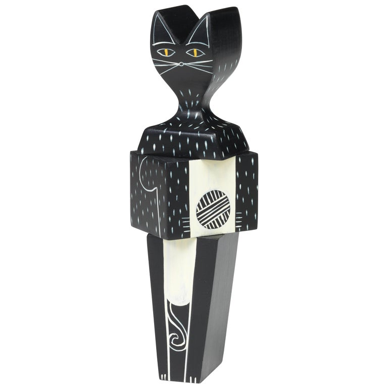 Vitra Wooden Doll Small Cat by Alexander Girard For Sale