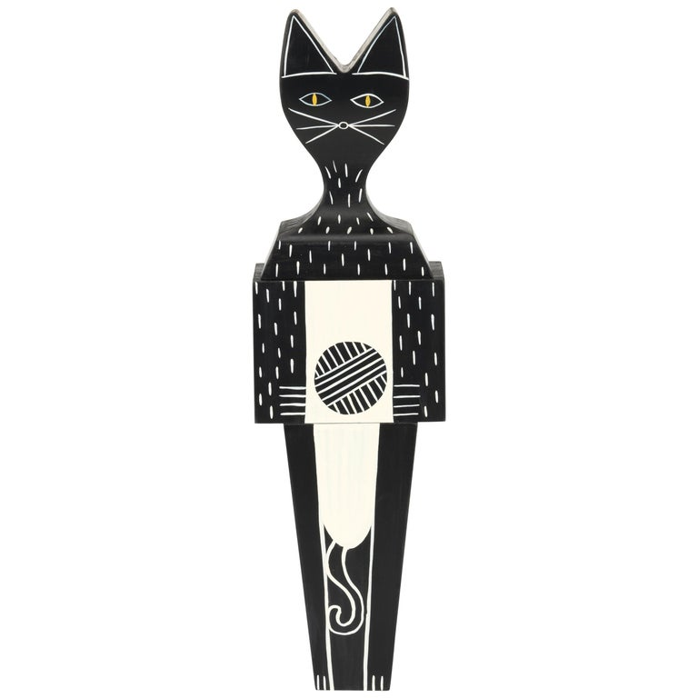 Vitra Wooden Extra Large Doll Cat by Alexander Girard For Sale