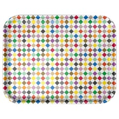 Vitra Large Classic Tray in Multicolor Diamond Pattern by Alexander Girard