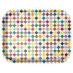 Vitra Medium Classic Tray in Multicolor Diamond Pattern by Alexander Girard