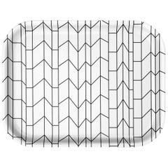 Vitra Medium Classic Tray in Black & White Graph Pattern by Alexander Girard