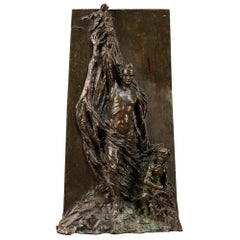 20th Century Abstract Bronze Italian Signed and Dated Sculpture, 1911
