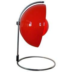 Red VP4 Flowerpot Table Lamp by Verner Panton for Louis Poulsen, Denmark 1968