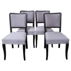 Art Deco Dining Chairs, Set of 4