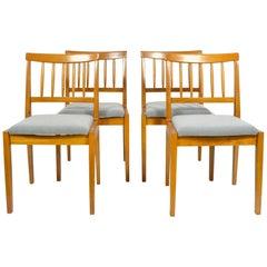 Oak Vintage Chairs, 1970s, Set of Four
