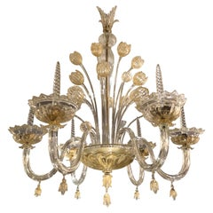 Andre Arbus Murano Glass Chandelier by Veronese Paris