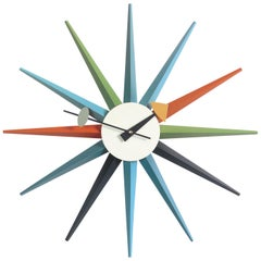Vitra Sunburst Multicolor Wall Clock by George Nelson
