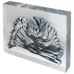 Stunning Porcelain and Perspex Sculpture by Fenella Elms