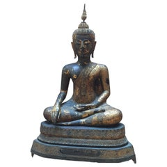 "Great Buddha Ayutaya Sitting in Lotus Position ""Virasana"""
