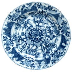 19th Century Blue and White Dish in the Kangxi Taste