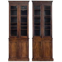 Pair of Mid-19th Century English Rosewood Bookcases