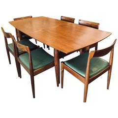 Midcentury Australian Blackwood Dining Suite by Danish Deluxe, circa 1960s