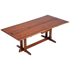 "Rare George Nakashima, ""Special Frenchman's Cove II Desk"", 1973"