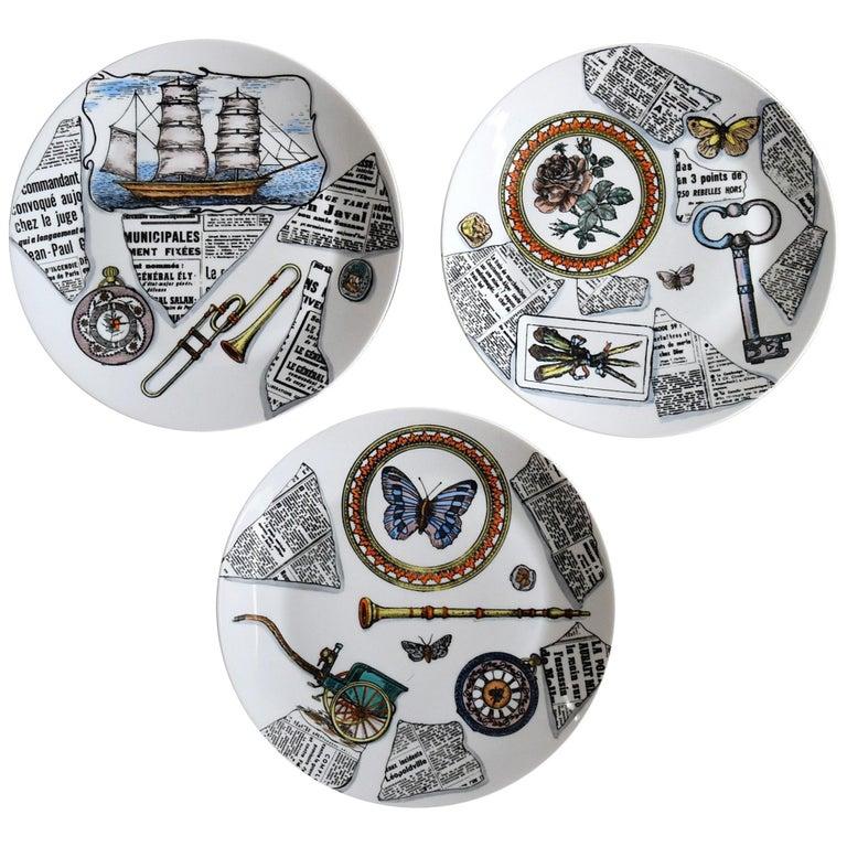Set of 3 Big Bucciarelli Porcelain Plates